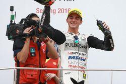 Podium : le vainqueur Francesco Bagnaia, Aspar Team Mahindra Moto3