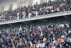 Fans at the grandstand