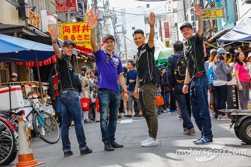 Pol Espargaró, Monster Yamaha Tech 3, Jorge Lorenzo, Yamaha Factory Racing, Takaaki Nakagami, Honda Team Asia, Bradley Smith, Monster Yamaha Tech 3