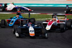 Steijn Schothorst, Campos Racing leads Charles Leclerc, ART Grand Prix and Arjun Maini, Jenzer Motorsport