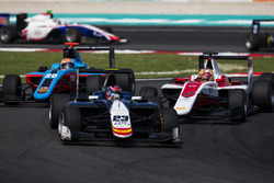 Steijn Schothorst, Campos Racing leads Charles Leclerc, ART Grand Prix and Arjun Maini, Jenzer Motor