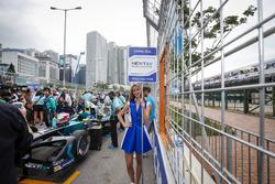 Grid girl of Nelson Piquet Jr., NEXTEV TCR Formula E Team