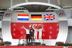 Podium: race winner Nico Rosberg, Mercedes AMG F1, second place Max Verstappen, Red Bull Racing, third place Lewis Hamilton, Mercedes AMG F1 and Andrew Shovlin, Mercedes AMG F1 Engineer