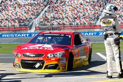 Auto chocado de Alex Bowman, Hendrick Motorsports Chevrolet,