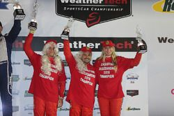 GT Daytona Podium: third place #63 Scuderia Corsa Ferrari 488 GT3: Christina Nielsen, Alessandro Balzan, Jeff Segal