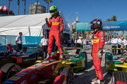 Le vainqueur Lucas di Grassi, ABT Schaeffler Audi Sport et son équipier Daniel Abt, ABT Schaeffler Audi Sport