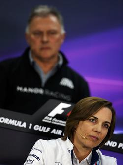 Claire Williams, directrice adjointe Williams lors de la conférence de presse de la FIA