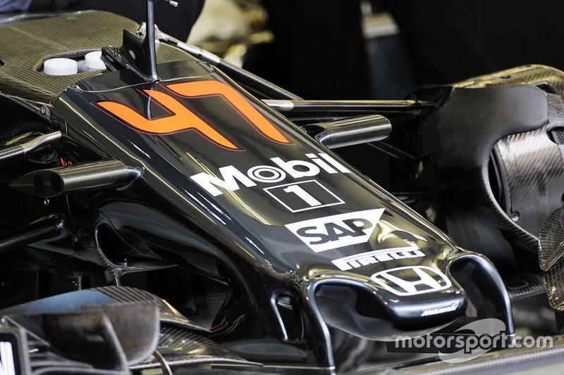 The McLaren MP4-31 for Stoffel Vandoorne, McLaren