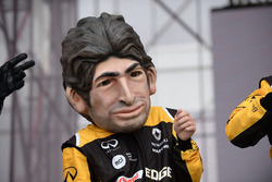 Caricature of Carlos Sainz Jr., Renault Sport F1 Team