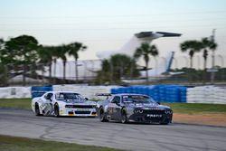 #12 TA2 Dodge Challenger, Marc Miller of Stevens Miller Racing, #77 TA2 Dodge Challenger, Paul Van Terry of Stevens Miller Racing