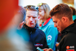 Edoardo Mortara, Venturi Formula E Team, Maro Engel, Venturi Formula E Team, talk to the press