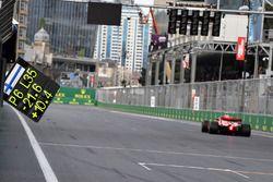 Pitbord van Kimi Raikkonen, Ferrari SF71H