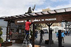 Paddock entrance preparation