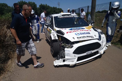 Giuseppe Bergantino, Michela Di Vincenzo, Ford Fiesta R5, New Jolly Motors, incidente