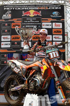 Jeffrey Herlings, Red Bull KTM Factory Racing, wint zijn eerste MX2-wedstrijd in Valkenswaard (2010)