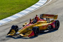 Ryan Hunter-Reay, Andretti Autosport Honda fête sa victoire sur la piste