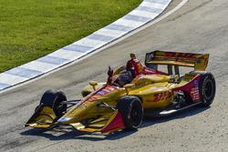Ryan Hunter-Reay, Andretti Autosport Honda viert overwinning op de baan