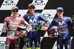Ganador de la pole Valentino Rossi, Yamaha Factory Racing, segundo Jorge Lorenzo, Ducati Team, tercero Maverick Viñales, Yamaha Factory Racing