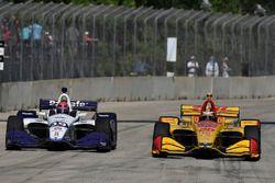 Santino Ferrucci, Dale Coyne Racing Honda, Ryan Hunter-Reay, Andretti Autosport Honda