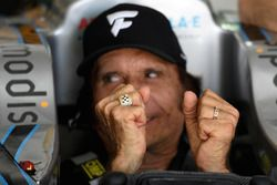 Emerson Fittipaldi wearing his Indycar ring