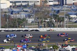 Brendan Gaughan, Beard Motorsports Chevrolet Camaro and Ricky Stenhouse Jr., Roush Fenway Racing For