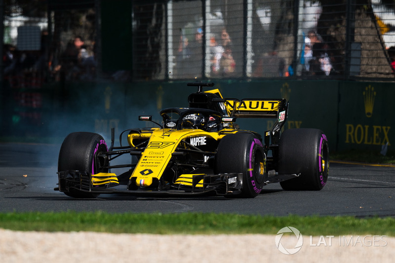 Nico Hulkenberg, Renault Sport F1 Team R.S. 18 locks up