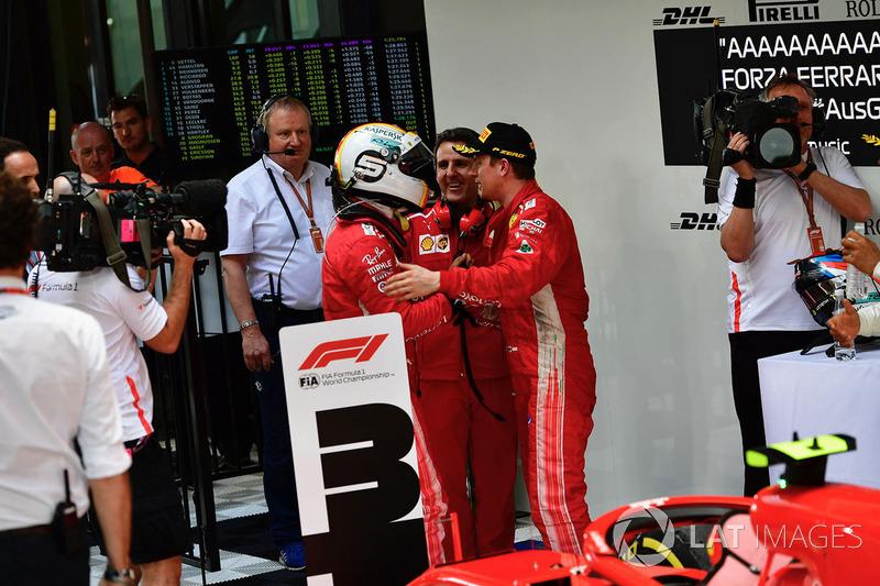 Гонщики Ferrari Себастьян Феттель и Кими Райкконен, Ferrari