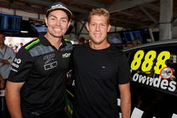 Craig Lowndes, Triple Eight Race Engineering Holden with World Champion surfer Mick Fanning