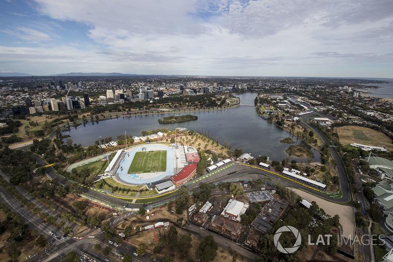 Overzicht van Albert Park, Melbourne