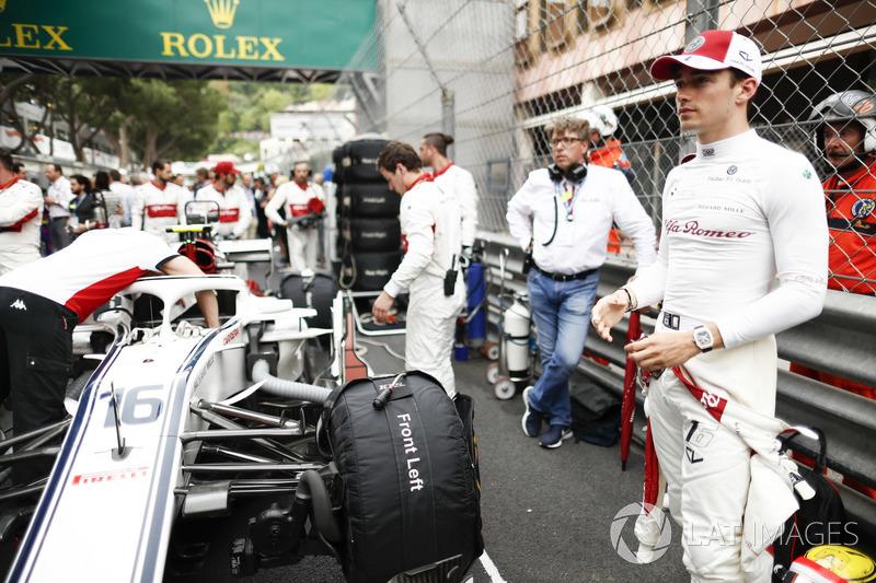 Charles Leclerc, Sauber, na polu startowym