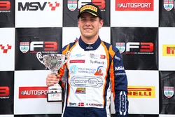 Podium: second place Nicolai Kjaergaard, Carlin