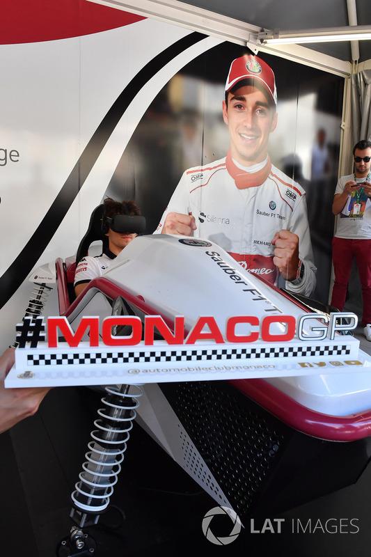 Charles Leclerc, Sauber at the Monaco GP Challenge