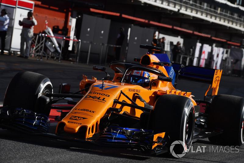 Lando Norris, pilote de réserve McLaren