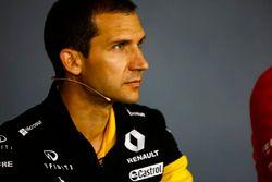 Remi Taffin, Director de Operaciones, Renault Sport F1, en la Conferencia de prensa