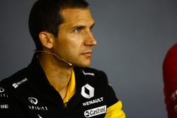 Remi Taffin, Director of Operations, Renault Sport F1, in the Press Conference