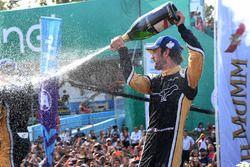 Jean-Eric Vergne, Techeetah, sprays the champagne on the podium