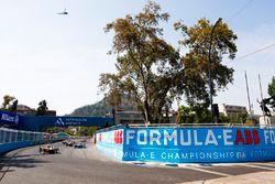Jean-Eric Vergne, Techeetah, Nelson Piquet Jr., Jaguar Racing, Andre Lotterer, Techeetah, at the sta