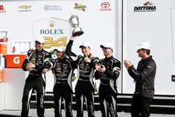 Victory lane, Winner GTD: #11 GRT Grasser Racing Team Lamborghini Huracan GT3: Rolf Ineichen, Mirko