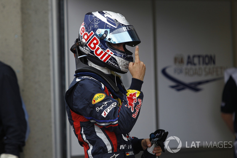 Polesitter Sebastian Vettel, Red Bull Racing RB7