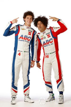 Matheus Leist, A.J Foyt Racing; Tony Kanaan, A.J Foyt Racing
