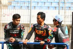 Adam Norrodin, Zulfahmi Khairuddin and Ayumu Sasaki, SIC Racing Team