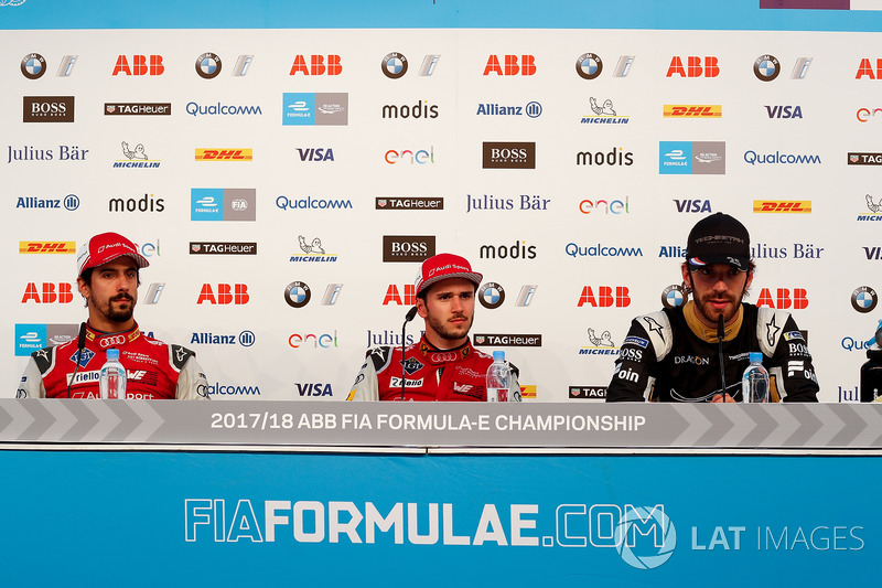 Konferensi pers, Daniel Abt, Audi Sport ABT Schaeffler, Jean-Eric Vergne, Techeetah., Lucas di Grassi, Audi Sport ABT Schaeffler
