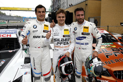 Top 3 na de kwalificaite, Pole voor Lucas Auer, Mercedes-AMG Team HWA, tweede plaats Philipp Eng, BMW Team RBM, derde plaats #Bruno Spengler, BMW Team RBM
