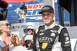 Ed Carpenter, Ed Carpenter Racing Chevrolet reacts to his pole win