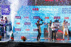 Jean-Eric Vergne, Techeetah, s'impose devant Lucas di Grassi, Audi Sport ABT Schaeffler, Daniel Abt, Audi Sport ABT Schaeffler