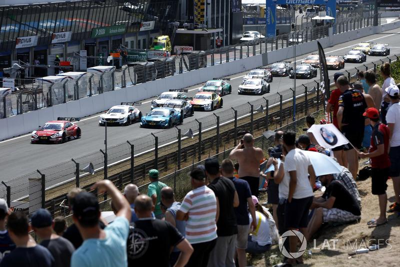 Рестарт, Рене Раст, Audi Sport Team Rosberg, Audi RS 5 DTM, попереду