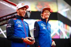 Pierre Gasly, Toro Rosso, et Brendon Hartley, Toro Rosso