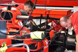 Ferrari SF71H vista del motor