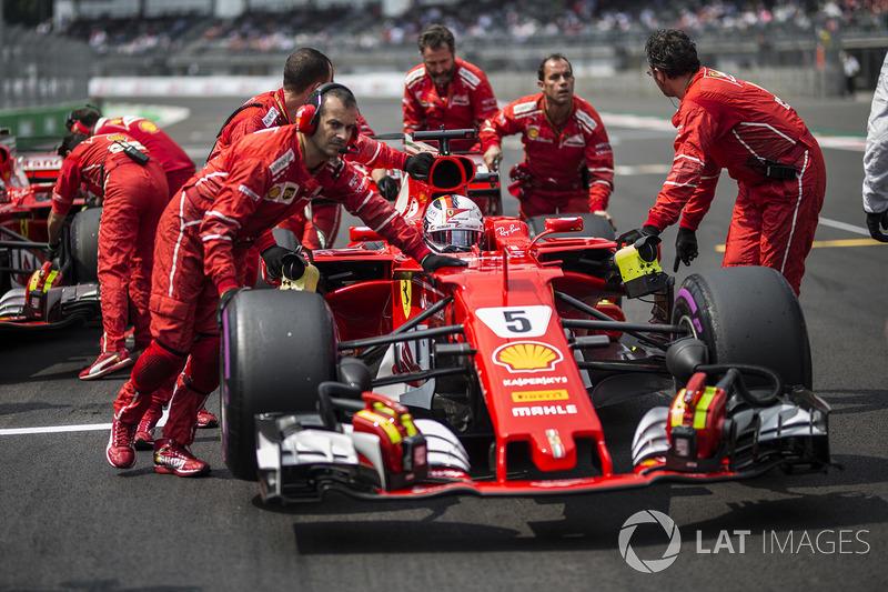 Sebastian Vettel, Ferrari SF70H, Ferrari