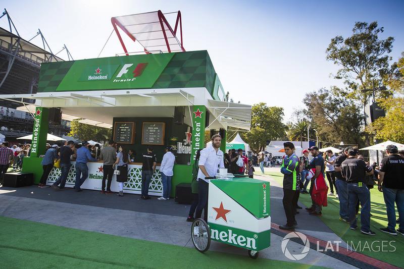 Heineken beer garden